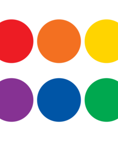 Spot On Colorful Circles Carpet Markers 7""