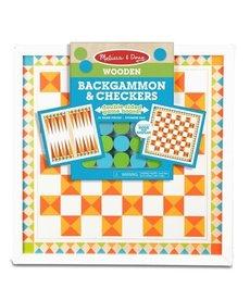 Melissa & Doug Wooden Backgammon & Checkers