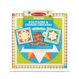 Melissa & Doug Wooden Solitaire & Chinese Checkers