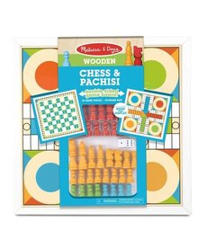 Melissa & Doug Wooden Chess & Pachisi
