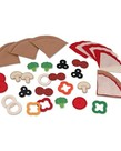 Melissa & Doug Felt Pizza Food Set