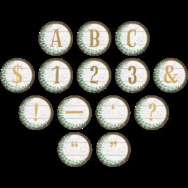 Eucalyptus Circle Letters