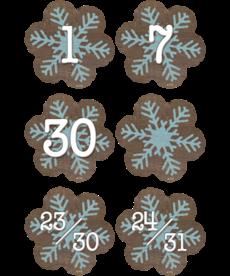 Snowflakes Calendar Days
