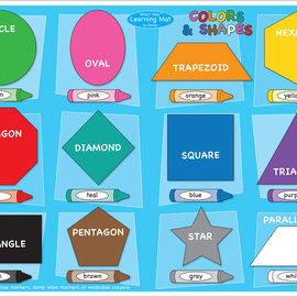 Smart Poly Learning Mat Shapes