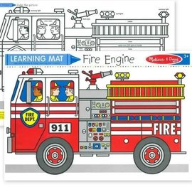 Learning Mat-Fire Truck
