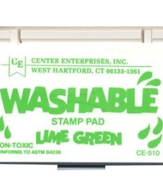 Washable stamp pad-lime green