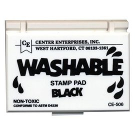 Washable stamp pad-black
