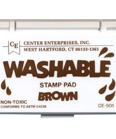 Washable stamp pad- brown