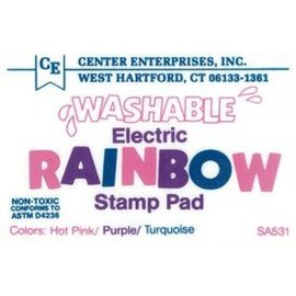 Washable stamp pad- electric rainbow