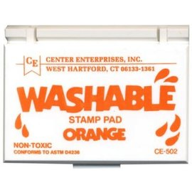 Washable stamp pad- orange