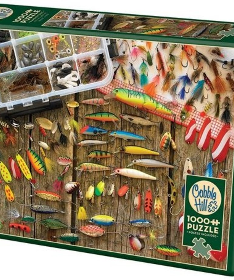 Cobble Hill Fishing Lures Puzzle 1000pc