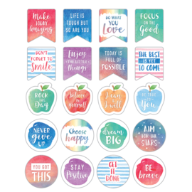 Watercolor Watercolor Words to Inspire Stickers