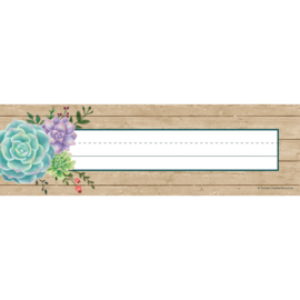 Rustic Bloom Name Plates
