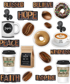 Industrial Cafe Morning Motivators Mini Bulletin Board
