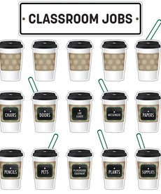 Industrial Cafe Classroom Jobs Mini Bulletin Board