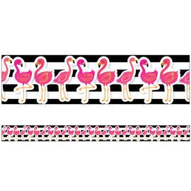 Simply Stylish Flamingo Border