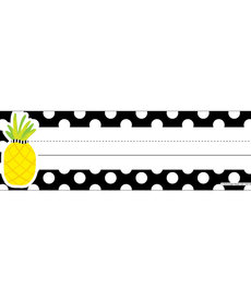 Simply Stylish Pineapple Polka Dot Nameplates