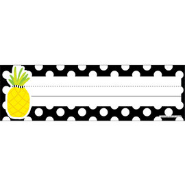 Simply Stylish Pineapple Polka Dot Nameplates