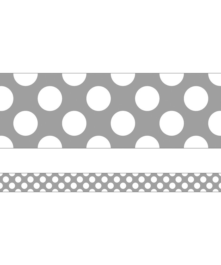 Gray Polka Dots Border