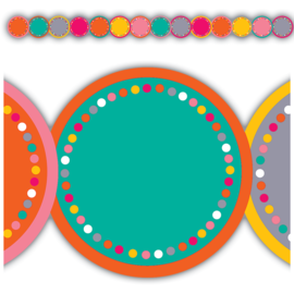 Tropical Punch Circles Die Cut Border