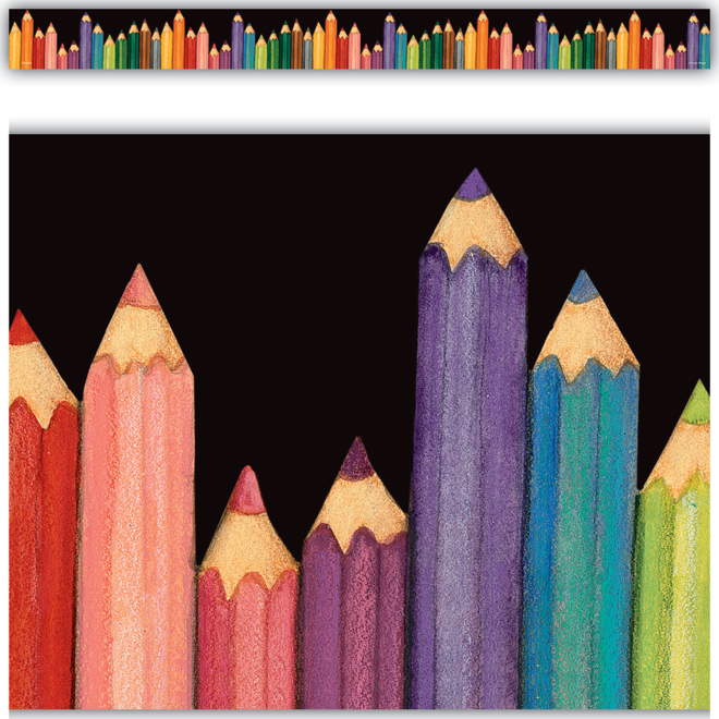 Colored Pencils Straight Border/Susan Wingert