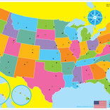Smart Poly Learning Mat-US Map