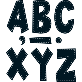 "Black Stitch 7"" Letters"