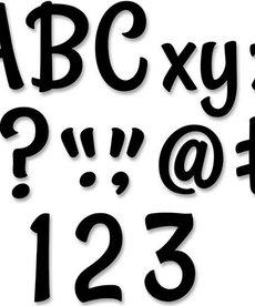 Stylish Black Designer Letters