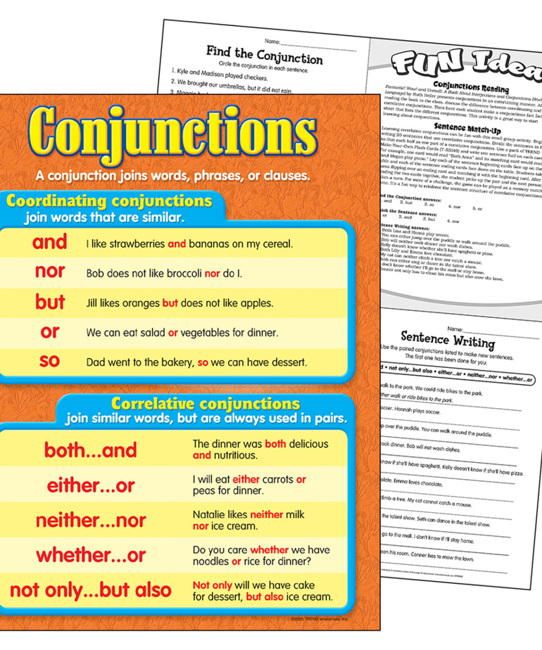 Conjunctions-Chart