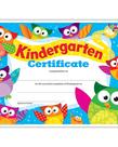 Kindergarten Certificate Owl-Stars