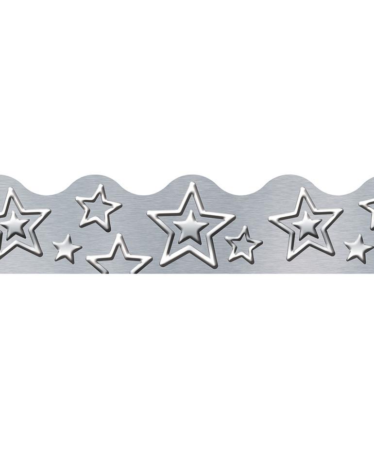 I Love Metal Silver Stars Trimmer