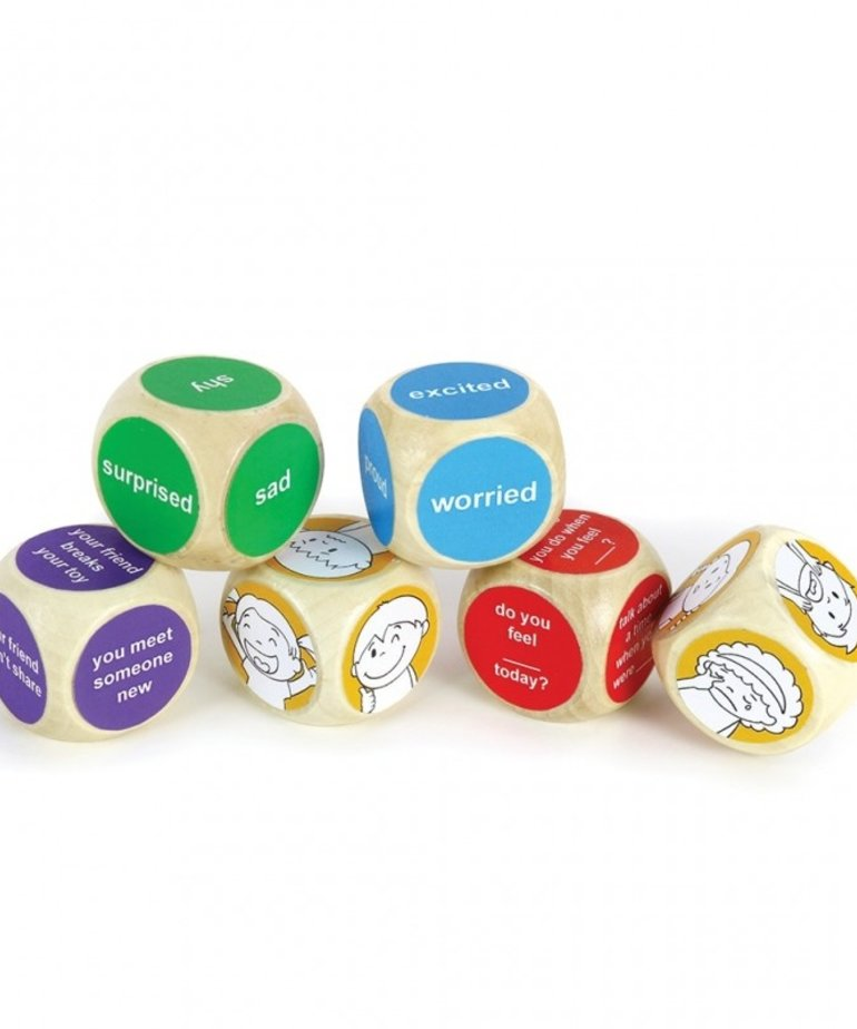 Emotions Wooden Dice Set