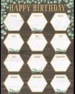 Eucalyptus Happy Birthday Chart