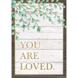 Eucalyptus You Are Loved Positive Poster