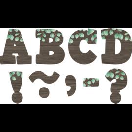 "Eucalyptus Bold Block 4"" Letters"