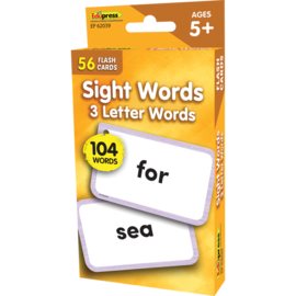 Sight Words Flashcards 3 Letter Words
