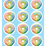Industrial Cafe Rainbow Donut Stickers