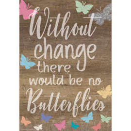 Home Sweet Classroom Without Change There Would Be No Butterflies Poster