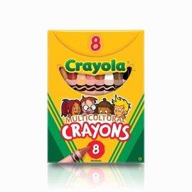 Crayola Multicultural Crayons-8pk
