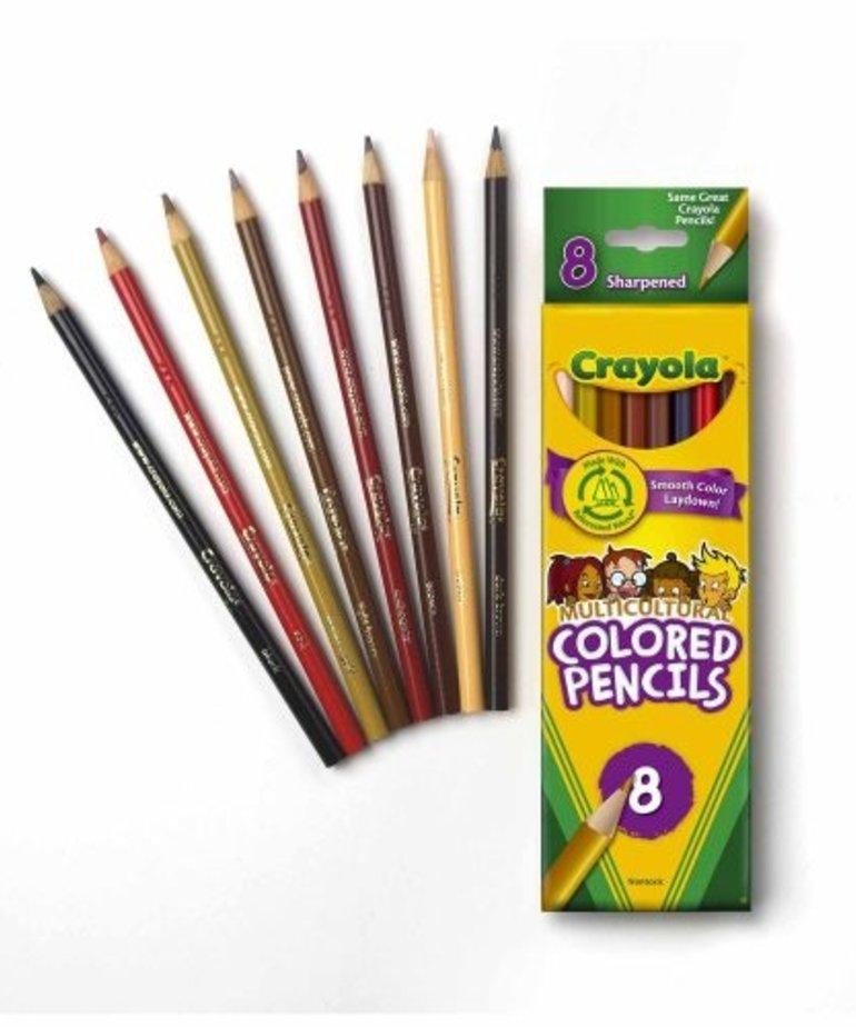 Crayola Multicultural Pencil Crayons-8pk
