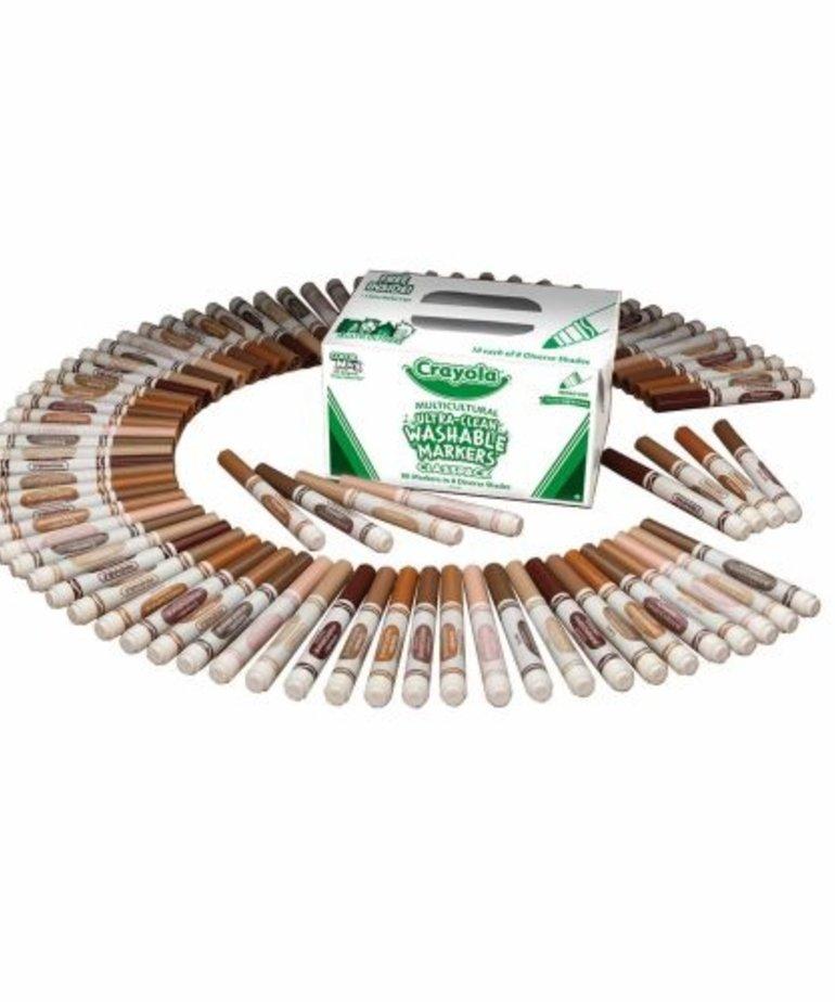 Crayola Crayola Multicultural Markers Classpack-80pk