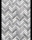 Better Than Paper-White & Grey Wood Herringbone