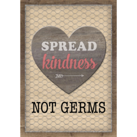 Spread Kindness Not Germs Postitive Poster