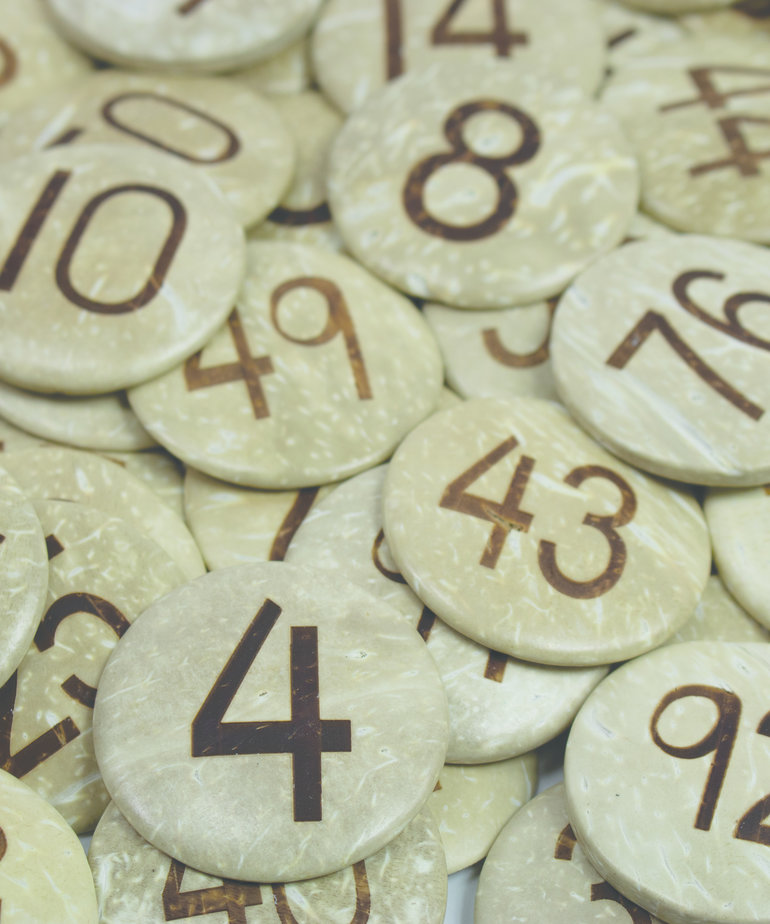 Coconut Numbers (1-100)