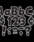"Black & Silver Funtastic 4"" Letters"
