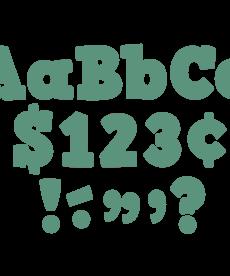 "Eucalyptus Green 4"" Bold Block Letters"