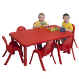My Value Preschool Rectangle Table & 6 chairs