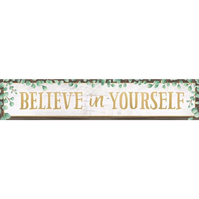 Eucalyptus Believe in Yourself Banner
