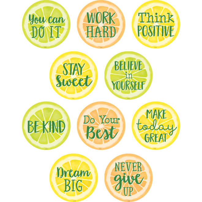 Lemon Zest Positive Sayings