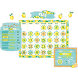 Lemon Zest Calendar Bulletin Board Set